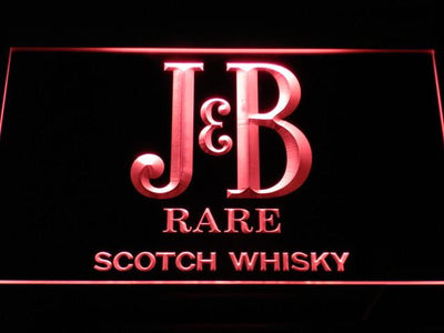 J&B Rare LED Neon Sign - Red - SafeSpecial