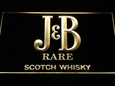 J&B Rare LED Neon Sign - Yellow - SafeSpecial