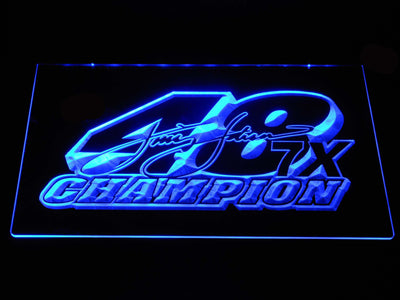 Jimmie Johnson 7X Champion LED Neon Sign - Blue - SafeSpecial