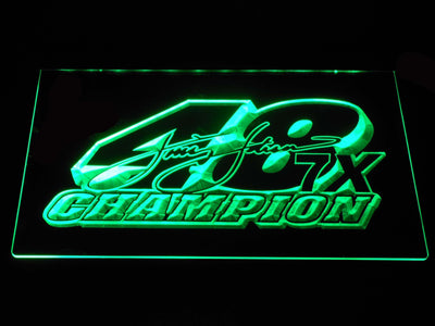 Jimmie Johnson 7X Champion LED Neon Sign - Green - SafeSpecial