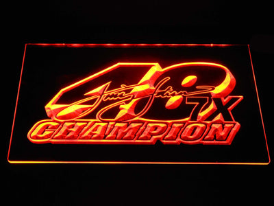 Jimmie Johnson 7X Champion LED Neon Sign - Orange - SafeSpecial
