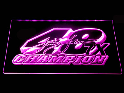 Jimmie Johnson 7X Champion LED Neon Sign - Purple - SafeSpecial