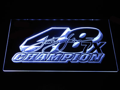Jimmie Johnson 7X Champion LED Neon Sign - White - SafeSpecial