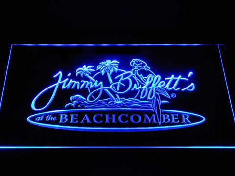 Image of Jimmy Buffett's Beachcomber LED Neon Sign - Blue - SafeSpecial