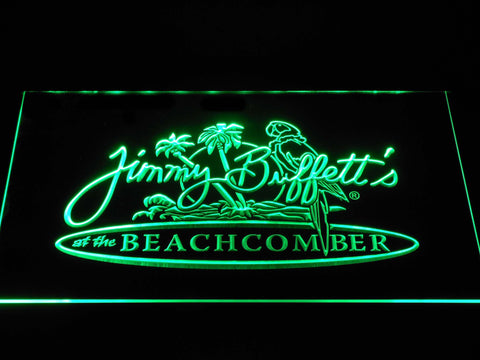 Jimmy Buffett's Beachcomber LED Neon Sign - Green - SafeSpecial
