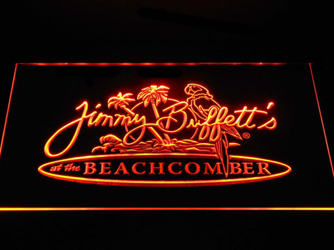 Image of Jimmy Buffett's Beachcomber LED Neon Sign - Orange - SafeSpecial