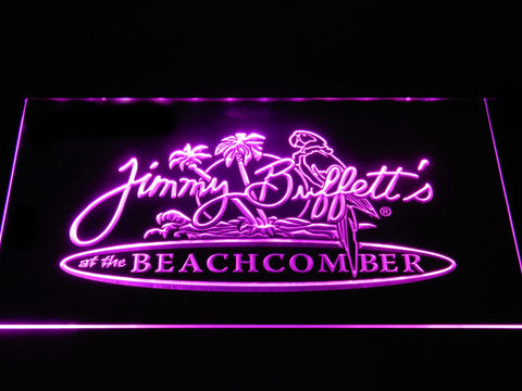 Jimmy Buffett's Beachcomber LED Neon Sign - Purple - SafeSpecial