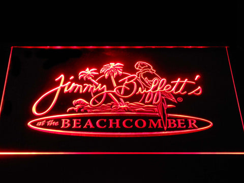 Jimmy Buffett's Beachcomber LED Neon Sign - Red - SafeSpecial