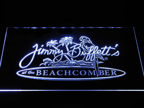 Image of Jimmy Buffett's Beachcomber LED Neon Sign - White - SafeSpecial