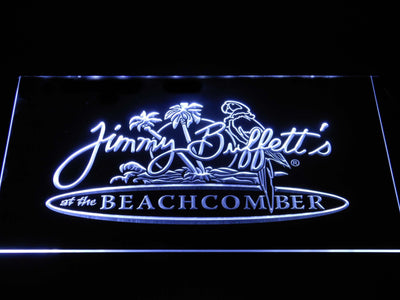 Jimmy Buffett's Beachcomber LED Neon Sign - White - SafeSpecial