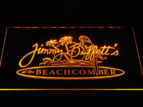 Jimmy Buffett's Beachcomber LED Neon Sign - Yellow - SafeSpecial