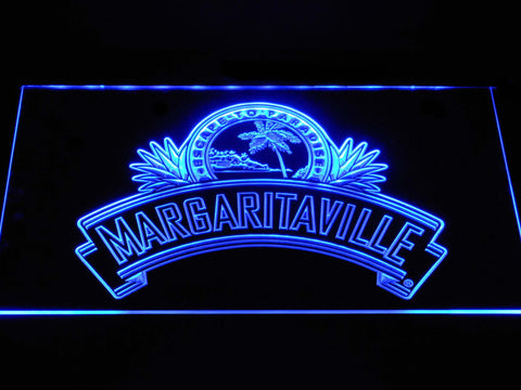 Image of Jimmy Buffett's Margaritaville Ribbon LED Neon Sign - Blue - SafeSpecial