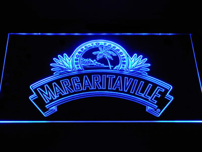 Jimmy Buffett's Margaritaville Ribbon LED Neon Sign - Blue - SafeSpecial