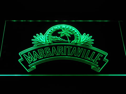 Image of Jimmy Buffett's Margaritaville Ribbon LED Neon Sign - Green - SafeSpecial