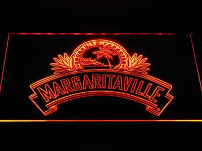 Jimmy Buffett's Margaritaville Ribbon LED Neon Sign - Orange - SafeSpecial