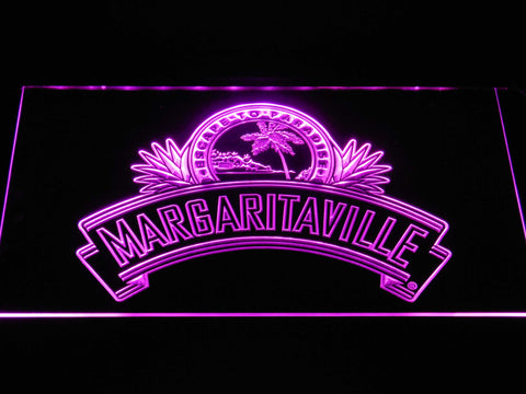 Image of Jimmy Buffett's Margaritaville Ribbon LED Neon Sign - Purple - SafeSpecial