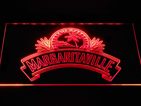 Image of Jimmy Buffett's Margaritaville Ribbon LED Neon Sign - Red - SafeSpecial