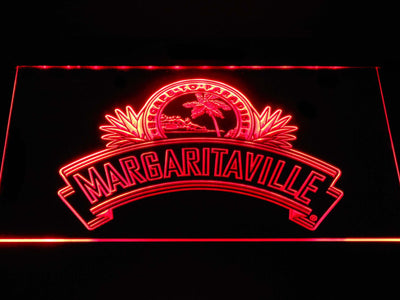 Jimmy Buffett's Margaritaville Ribbon LED Neon Sign - Red - SafeSpecial