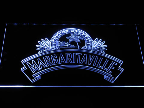 Image of Jimmy Buffett's Margaritaville Ribbon LED Neon Sign - White - SafeSpecial