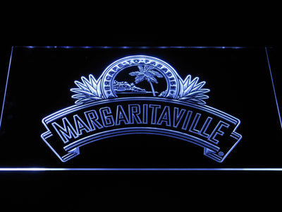 Jimmy Buffett's Margaritaville Ribbon LED Neon Sign - White - SafeSpecial