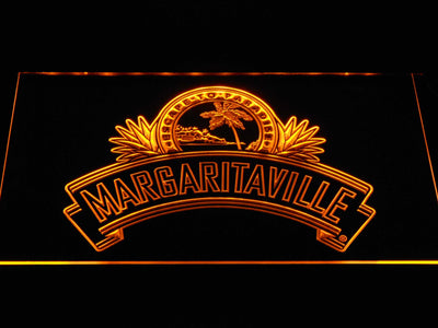 Jimmy Buffett's Margaritaville Ribbon LED Neon Sign - Yellow - SafeSpecial