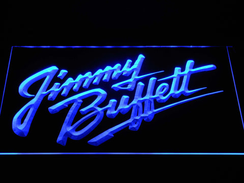 Image of Jimmy Buffett's Script Logo LED Neon Sign - Blue - SafeSpecial