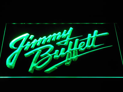 Jimmy Buffett's Script Logo LED Neon Sign - Green - SafeSpecial