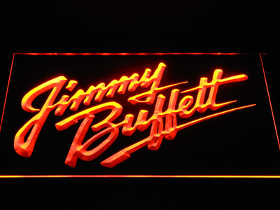 Jimmy Buffett's Script Logo LED Neon Sign - Orange - SafeSpecial