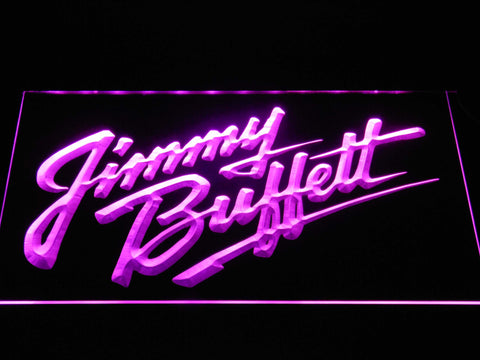 Image of Jimmy Buffett's Script Logo LED Neon Sign - Purple - SafeSpecial