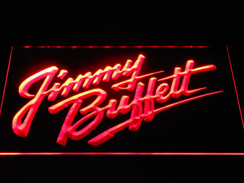 Image of Jimmy Buffett's Script Logo LED Neon Sign - Red - SafeSpecial