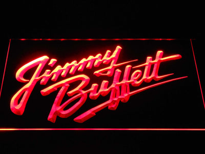 Jimmy Buffett's Script Logo LED Neon Sign - Red - SafeSpecial