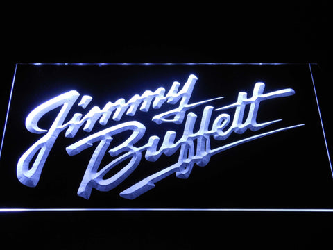 Image of Jimmy Buffett's Script Logo LED Neon Sign - White - SafeSpecial