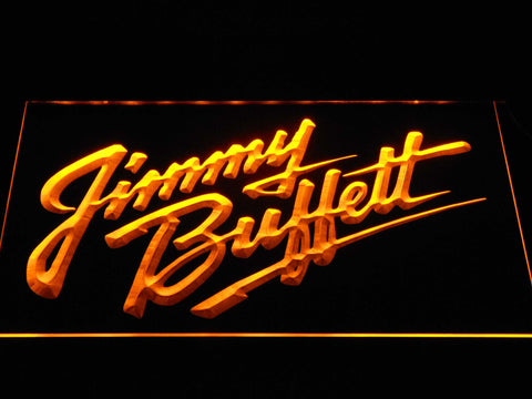 Image of Jimmy Buffett's Script Logo LED Neon Sign - Yellow - SafeSpecial