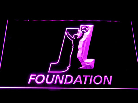 Joey Logano Foundation LED Neon Sign - Purple - SafeSpecial