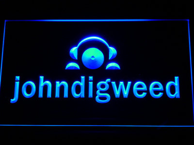 John Digweed LED Neon Sign - Blue - SafeSpecial
