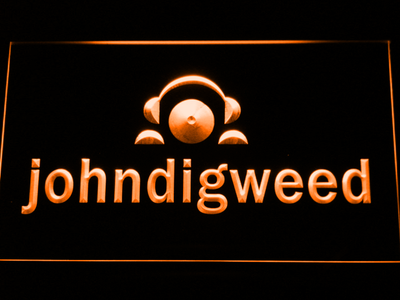 John Digweed LED Neon Sign - Orange - SafeSpecial