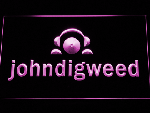 Image of John Digweed LED Neon Sign - Purple - SafeSpecial
