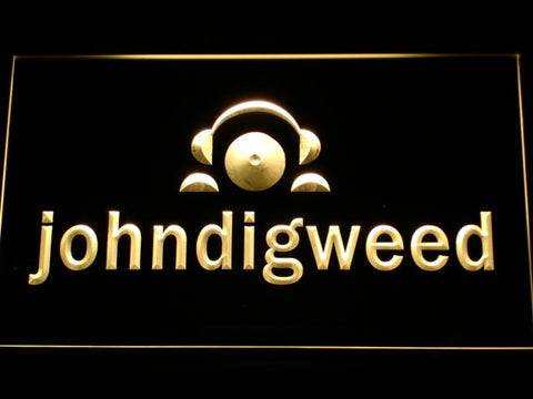 Image of John Digweed LED Neon Sign - Yellow - SafeSpecial