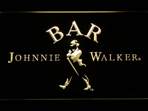 Johnnie Walker Bar LED Neon Sign - Yellow - SafeSpecial