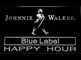 Johnnie Walker Blue Label Happy Hour LED Neon Sign - White - SafeSpecial