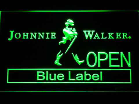 Johnnie Walker Blue Label Open LED Neon Sign - Green - SafeSpecial
