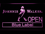 Johnnie Walker Blue Label Open LED Neon Sign - Purple - SafeSpecial