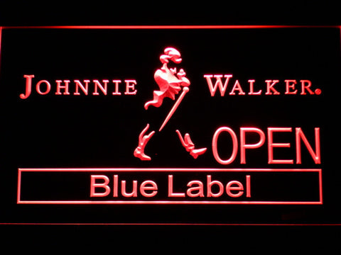 Johnnie Walker Blue Label Open LED Neon Sign - Red - SafeSpecial