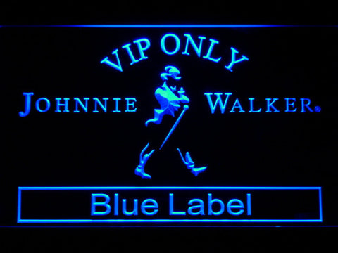 Image of Johnnie Walker Blue Label VIP Only LED Neon Sign - Blue - SafeSpecial