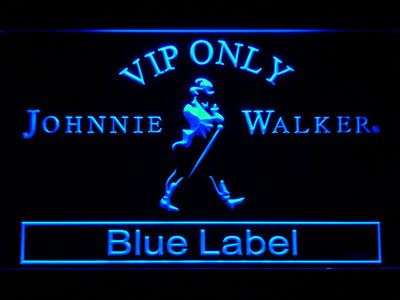 Johnnie Walker Blue Label VIP Only LED Neon Sign - Blue - SafeSpecial
