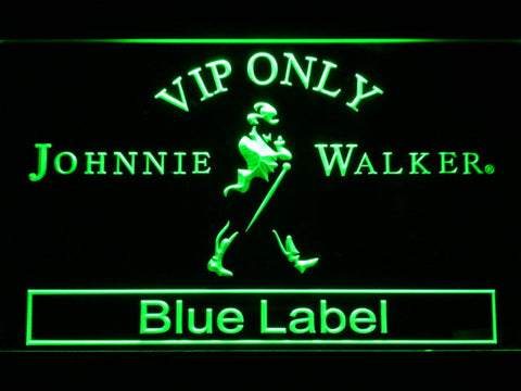 Image of Johnnie Walker Blue Label VIP Only LED Neon Sign - Green - SafeSpecial