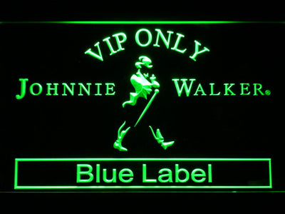 Johnnie Walker Blue Label VIP Only LED Neon Sign - Green - SafeSpecial