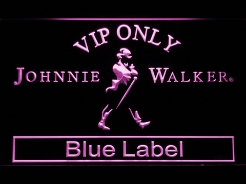 Image of Johnnie Walker Blue Label VIP Only LED Neon Sign - Purple - SafeSpecial