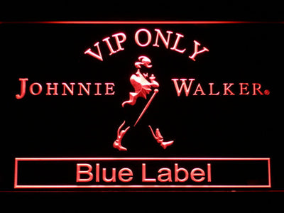 Johnnie Walker Blue Label VIP Only LED Neon Sign - Red - SafeSpecial