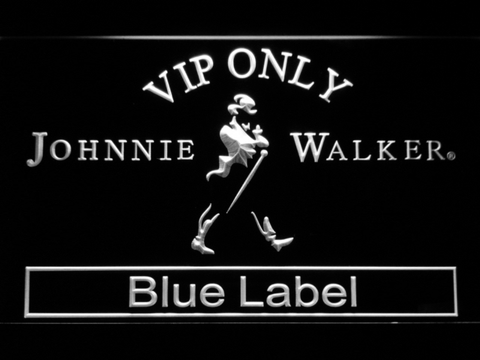 Image of Johnnie Walker Blue Label VIP Only LED Neon Sign - White - SafeSpecial